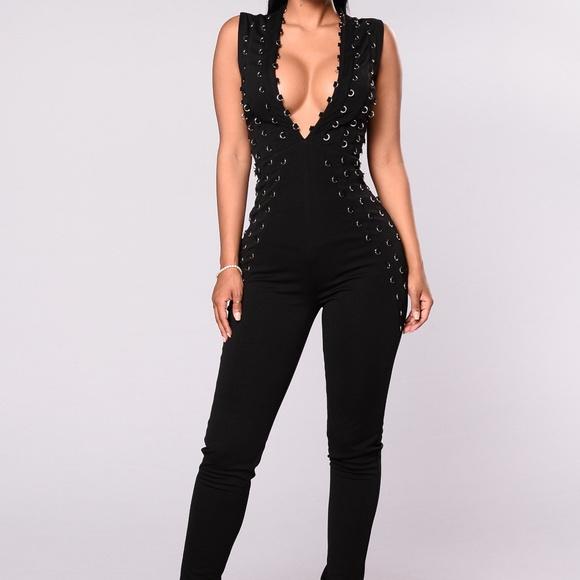 Fashion Nova Pants Plus Size Enzo O Ring Jumpsuit Poshmark
